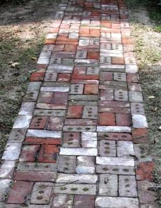New - old sidewalk