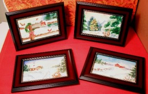 Framed mini paintings