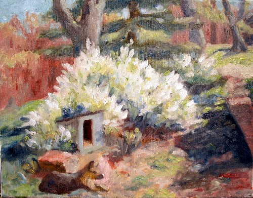 A simple spring subject.  Oil on canvas, 11x14