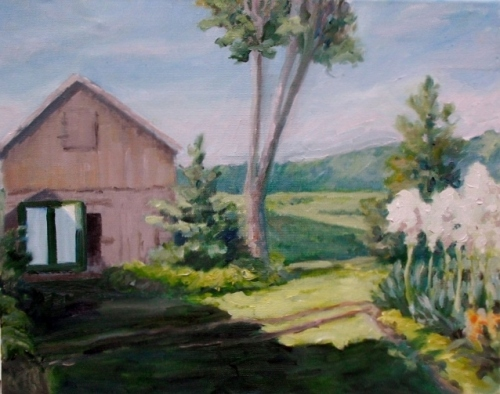 Blessinger Farm, oil on canvas, 16 x 20