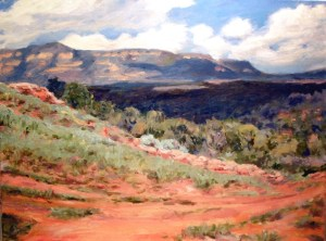 Pecos River Valley, final, oil on canvas,  18 x 24,  Kit Miracle