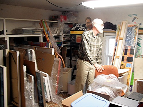 Bill Whorrall in his studio