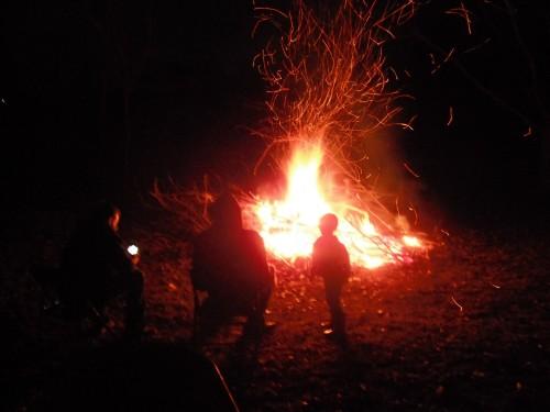 Campfire fireworks.