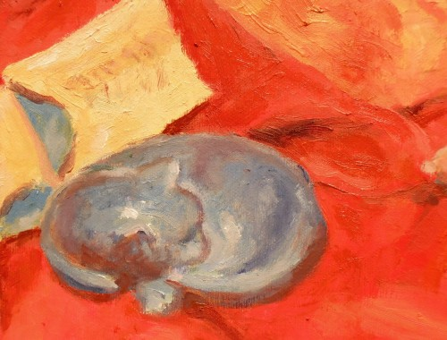 Lucky Red 2 - detail, sleeping cat