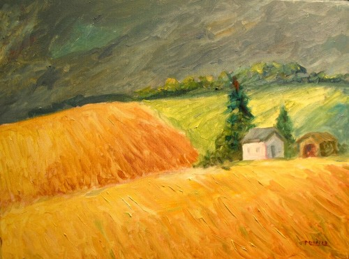 Abbett's Field 12 x 16 oil on canvas - from memory