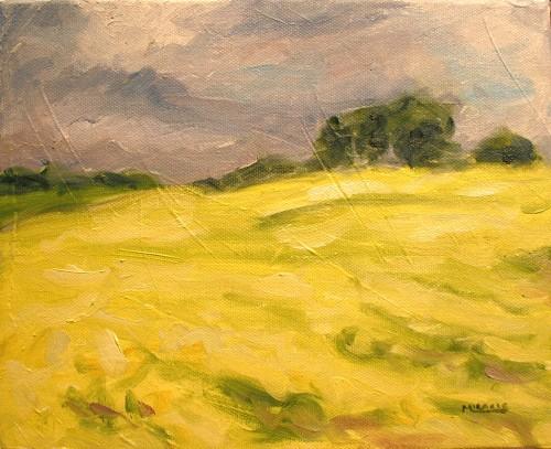 Abbett's Field from life, 8 x 10, oil