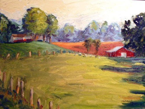 The Goat Farm 12 x 16, oil