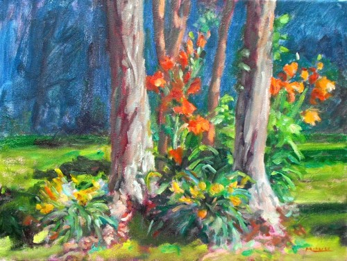 June Day Lilies, oil on canvas, 12x16, Kit Miracle