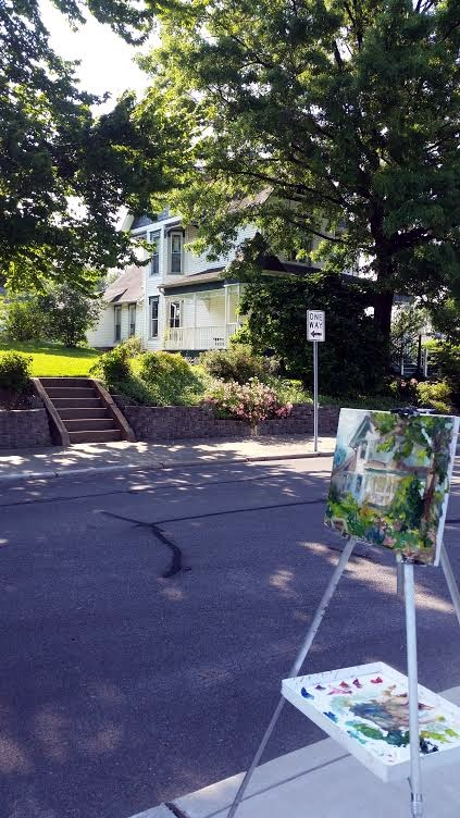 Main Street House #1 en plein air, Kit Miracle