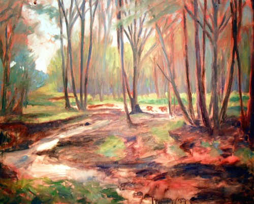 Ritter Creek, step 4, filling in  background, shape, more foreground