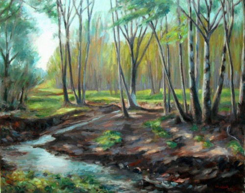 Ritter Creek, Final, 24 x 30, oil on canvas, Kit Miracle