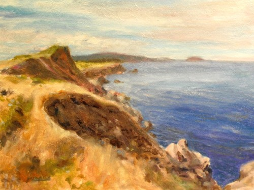 Cape Breton, Cabot Trail, 12x16, oil on canvas board, Kit Miracle