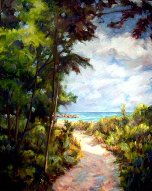Path to the Beach, 24 x 30 oil on canvas, Kit Miracle