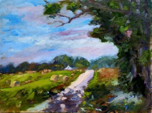 Mentor Road, Birdseye, Indiana, oil on canvas, 18 x 24, Kit Miracle