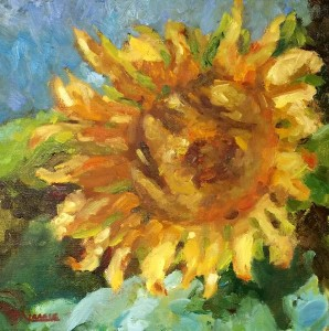 Sunflower, 12 x 12, oil, Kit Miracle $175