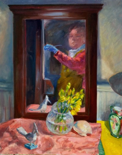 Self-portrait with still life (2)