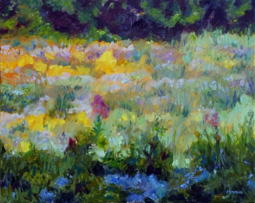 Monet's Fields, oil on canvas, 16 x 20, Kit Miracle