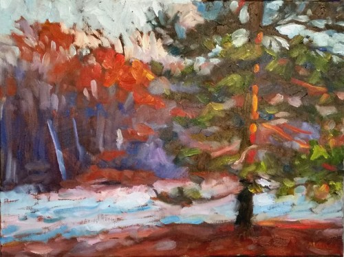 Frosty Field in Autumn, 12 x 16, oil on canvas, Kit Miracle