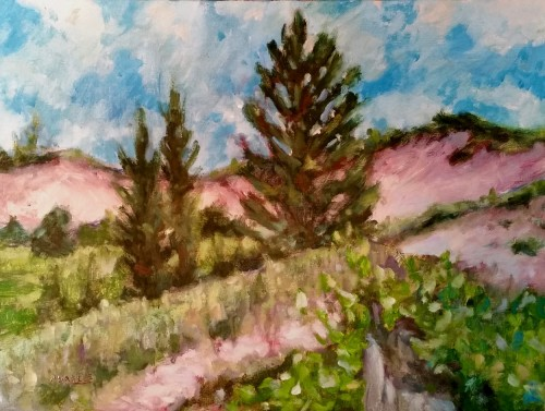 Indiana Dunes, 2015, oil on canvas board, 12 x 16, Kit Miracle