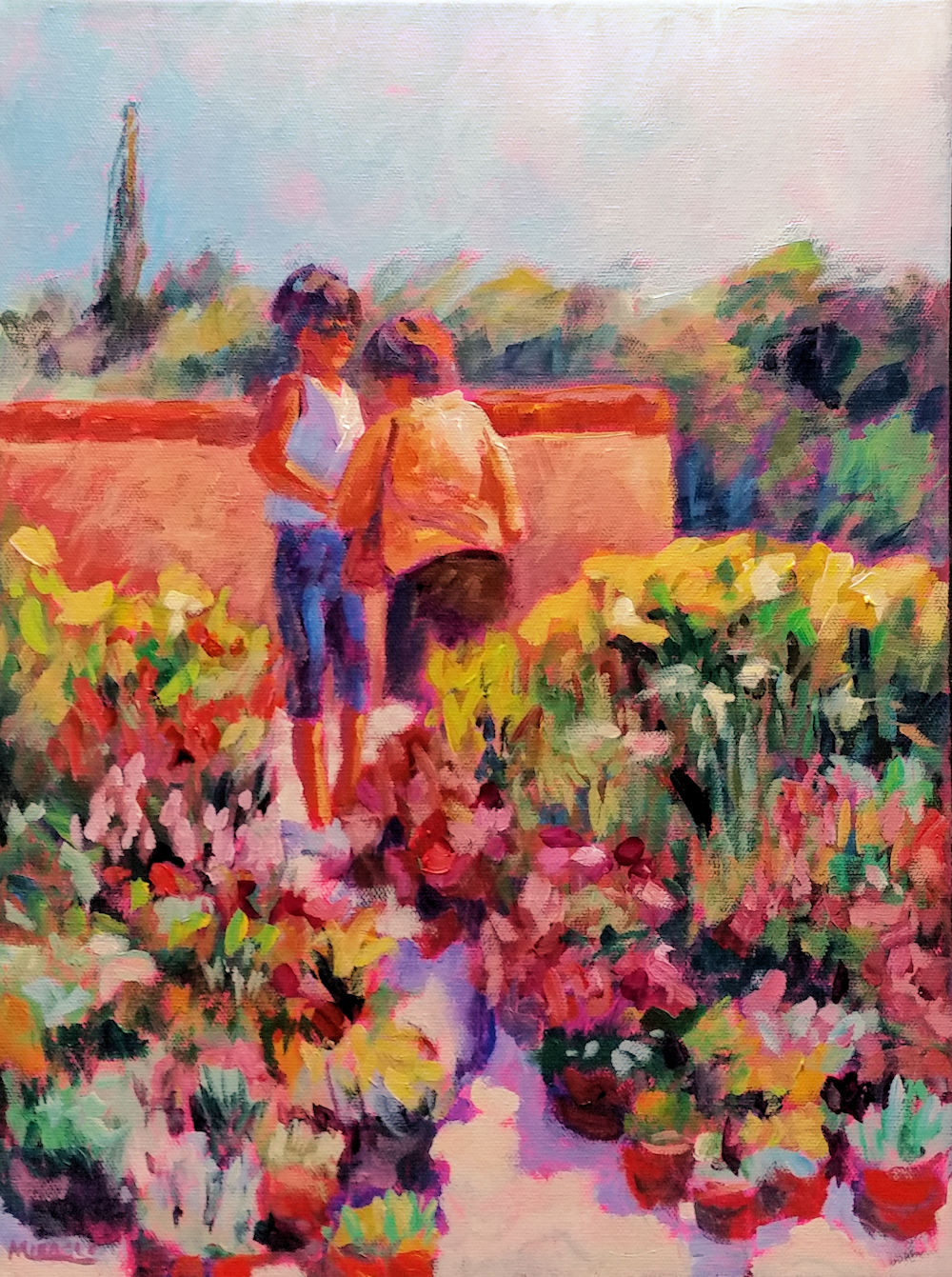 Flower Market, Provence, France – two step-by-step paintings   my90acres