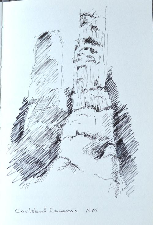 Carlsbad Caverns, New Mexico, sketch, Kit Miracle