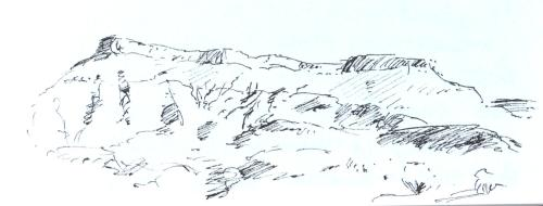 Utah scenery, sketch, Kit Miracle
